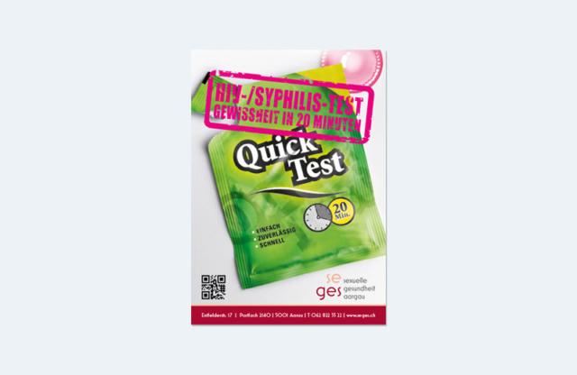 Testing-Flyer / SEGES / Sexuelle Gesundheit Aargau