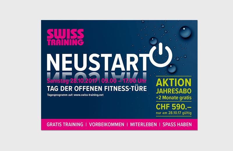 """Flyer """"Neu-Eröffnung"""" / Swiss Training Aarau"""