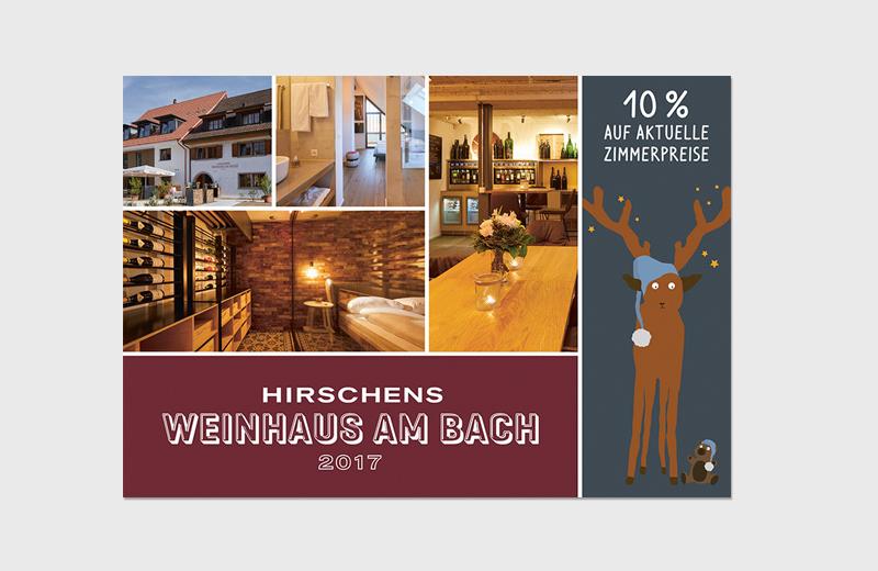 """Karte """"Weinhaus am Bach"""" / Landhotel Hirschen Erlinsbach und Weinhaus am Bach"""