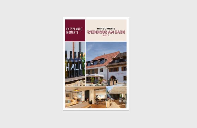 """Flyer """"Weinhaus am Bach"""" / Landhotel Hirschen Erlinsbach und Weinhaus am Bach"""