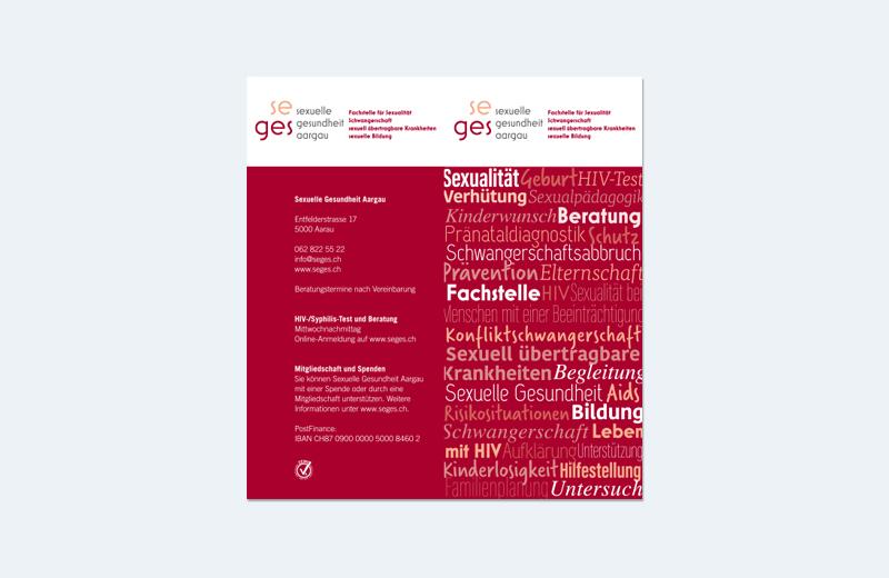 """Broschüre """"Fachstelle"""" / SEGES / Sexuelle Gesundheit Aargau"""