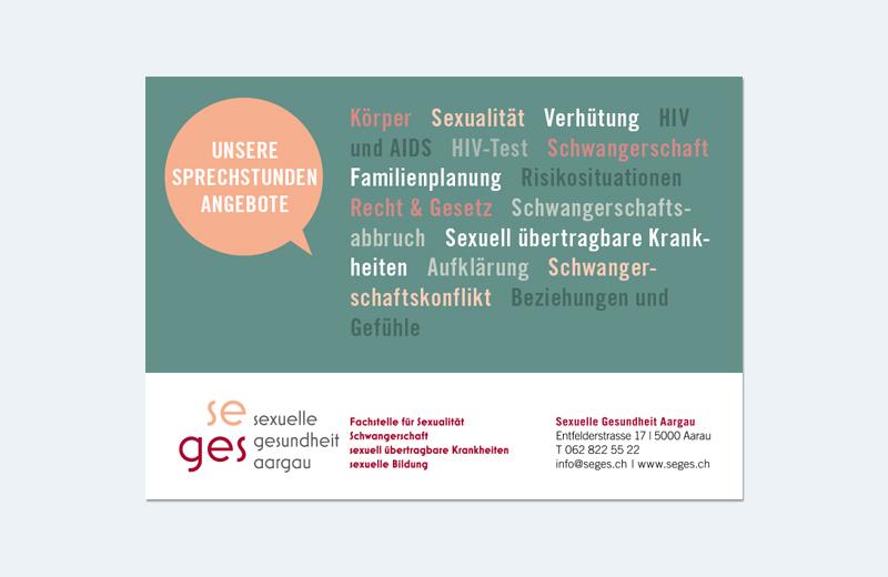 """Karte """"Sprechstunde"""" / SEGES / Sexuelle Gesundheit Aargau"""