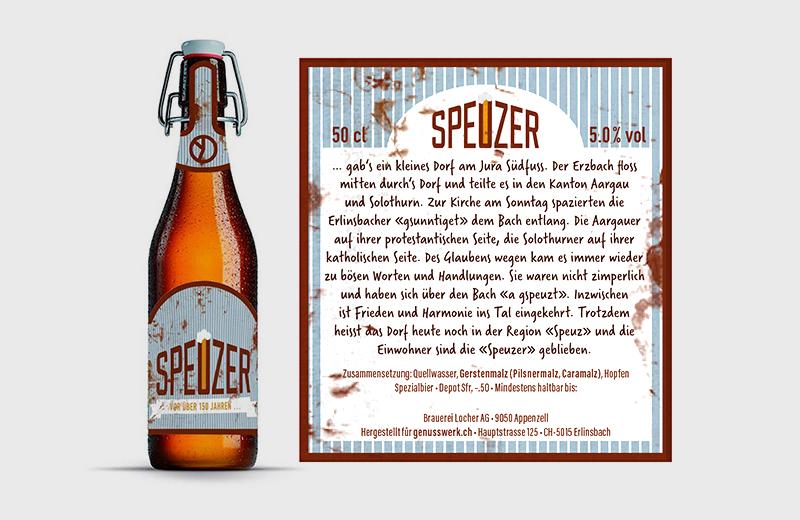 Etikette für Bier-Eigenmarke / Landhotel Hirschen Erlinsbach und Weinhaus am Bach